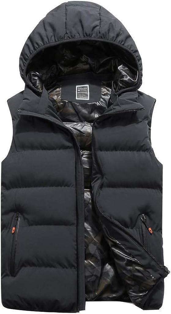 Puffer Jacket Vest Men NRUTUP Down Vest Gilet Padded Outdoor Vest Winter Warm Gilet Body Warmer Outerwear