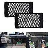 Universal Mesh Cargo Net Car Storage Net Wall Sticker Organizer Pouch Bag for Car, Pack of 2