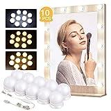 Kohree 10 x Luci da Specchio LED per Trucco Stile Hollywood Lampada Cosmetica Dimmerabili ...
