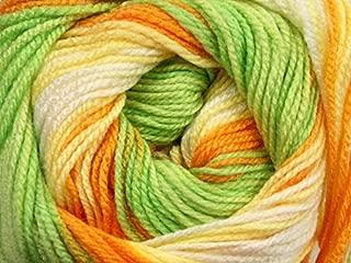 (1) 100 Gram Magic Baby - Green, Orange, Yellow, White - Acrylic, 393 Yards