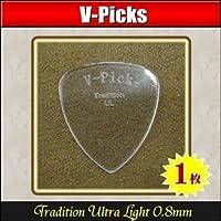 V-PICKS V-TRUL Tradition Ultra Light 0.8mm ×1枚 極厚アクリルピック