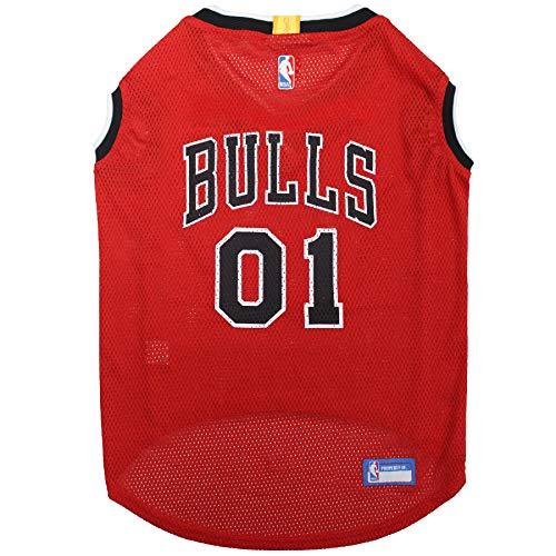 NBA CHICAGO BULLS DOG Jersey, X-Large - Tank Top Basketball Pet Jersey