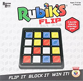 Rubik's Flip | Fast Moving Strategy Tile Board Game for 2 Players