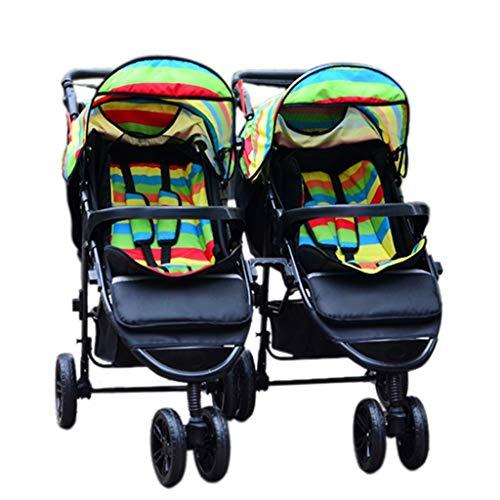 XYSQ kinderwagen lichtgewicht, dubbel vervoer met dubbele stoel, aparte aanpassing en afneembare, dubbele kinderwagen kan worden gerangschikt en opgevouwen om een tweede kinderstoel te huisvesten