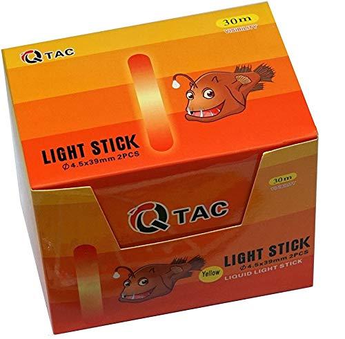 Q-Tac Knicklichter Angeln in Gelb 100 Stück (Liquid) bis 12h Brenndauer