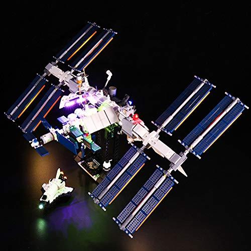ZJJ Kit de luz LED Compatible con Lego 21321 Modelo de Bloque de construcción Adecuado para el Kit de iluminación de la estación Espacial Lego TYS (no Incluye el Modelo de Bloques de construcción)