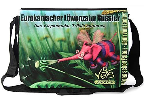 Veit'S lustige Schultertasche Schultasche College Tasche mit Motiv Eurokanischer Löwenzahn Rüssler - TAB0194
