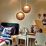E27 Industrie Basketball Plafonnier LED Lampe Suspension Salon lustre Hauteur...