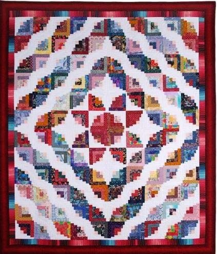 Shoreline Log Cabin Quilt Pattern Free Quilt Patterns