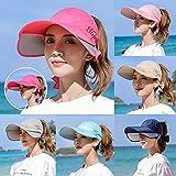 Mvermers Damen Sommerhut Outdoor Sonnenblende Sonnenschutz Strand Anti-UV Hut Schirmmütze Sommer Sonnenschutz Sport Strand Hut für Strand Golf Strandreisen Wandern Lange Krempe Kappe
