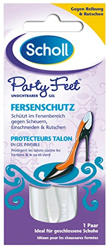 Scholl Party Feet Transparenter Gel Fersenschutz, 1 Paar