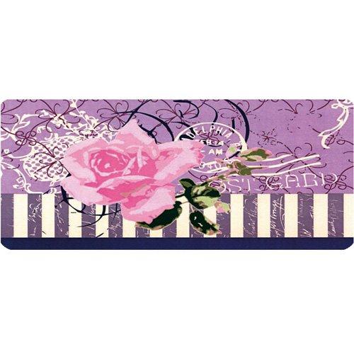 Küchenläufer 120x50 cm Pinke Rose Rosen Fußmatte Küchenteppich