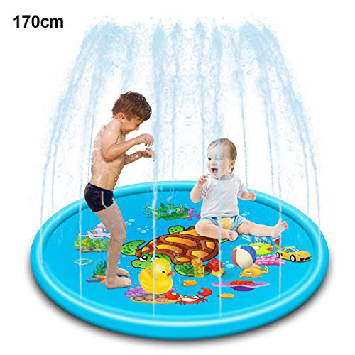 XYDDC 110 / 170cm Cute Turtle Inflable Spray Water Outdoor Kids Play Mat Sprinkler Pad Sprinkler Play Mat Summer Beach Watermats