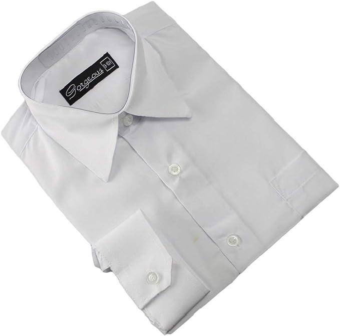 fiestas Ozmoint Camisas de manga larga para ni/ños bailes color negro y colores formales para bodas 6 meses a 16 a/ños ceremonias