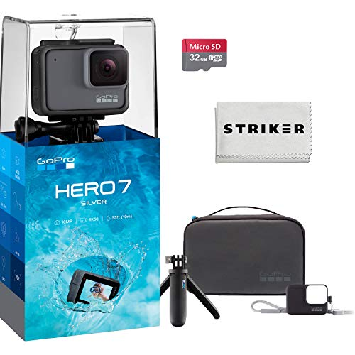 GoPro Hero 7 (Silver) Action Camera w/ 32GB Memory and Floating Grip Bundle