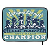 Retro International Chess Master - Alfombrilla de secado para mostrador de...