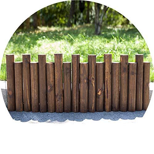 WXQIANG Gartenzaun Bildschirmrand Abschnitt Patio Rustikal Außendekoration Durable Verstärkung Insect Control Antiseptische High and Low Entwurf (Color : Length90cm, Size : 35/40cm)