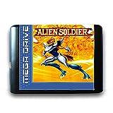 Jhana Alien Soldier for Sega 16 Bit MD Game Card pour Mega Drive pour Video Genesis Console (carte uniquement)