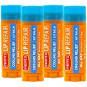 4-Pack O'Keeffe's Cooling Relief Lip Repair Lip Balm for Dry, Cracked Lips