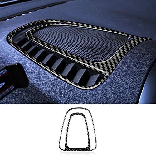 Charminghorse Carbon Fibre Sticker for Mini Cooper Countryman F60 Accessories Car Console Air Outlet Vent Cover Stickers Interior Trim Decoration Decal