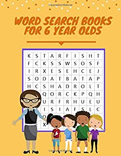 Word Search Books For 6 Year Olds: Search And Find Books For Toddlers