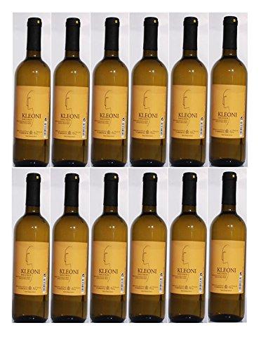 12x Kleoni Weißwein Imiglykos lieblich Lafkioti je 750ml + 2 Probier Sachets Olivenöl aus Kreta a 10 ml - griechischer weißer Wein Weißwein Griechenland Wein Set
