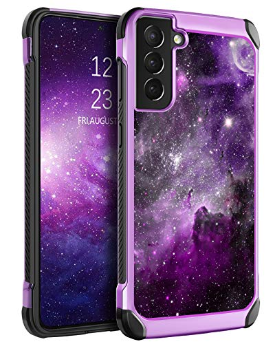 BENTOBEN Compatible with Samsung Galaxy S21 Case 6.2 Inch 2021,Slim Fit Glow in The Dark Shockproof Protective Hybrid Hard PC Soft TPU Bumper Drop Protection Girl Women Phone Cover,Nebula/Space Design