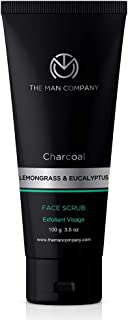 The Man Company Charcoal Tan Removal Face Scrub for Glowing Skin   Anti Acne, Blackhead Remover for Oily Skin, 100 Gm