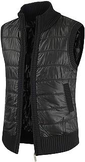 Men Jacket Men Vest Zipper Stand Collar Comfortable Trendy Men Jacket Spring and Autumn Elegant Warm Windproof Casual Slee...