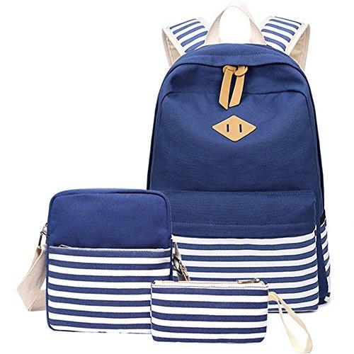 Artone Banda Grande Capacità Zaino Casual 15' Il Computer Portatile Scuola Daypack With Crossbody E Set Di Astucci Profondo Blu