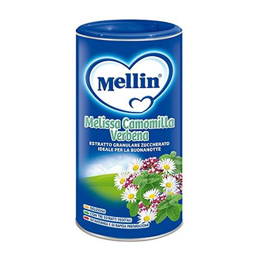 Mellin Baby Buonanotte Bevanda Istantanea con Miscela di Erbe, Verbena, Camomilla e Melissa - 200 g
