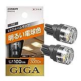 カーメイト 車用 LED ルームランプ GIGA T10 3000K 100lm 明るい電球色 2個入り BW250