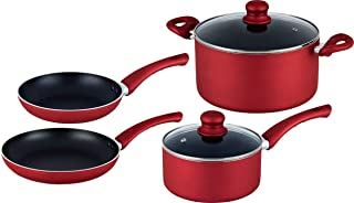Hell's Kitchen HK-417 6 Piece Essential Cookware Set, 6 PC Red
