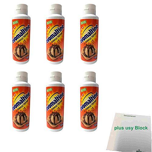 Ovomaltine Crunchy Topping 6er Pack (6x800g Flasche Dessert Sauce) + usy Block