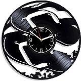 CQAZX Zapatillas Discos de Vinilo Relojes de Pared Decoración de Calzado Zapatillas Modernas Zapatos de Regalo Relojes de Vinilo No_Led_Light