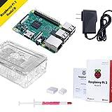 Raspberry Pi 3 Starter Kit avec Raspberry Pi 3 Modèle B par Noza Tec, Dissipateur et Alimentation...
