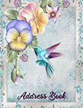 Hummingbird Address Book: Large Print -  Telephone Address Book for Seniors and Women ( 8.5 x 11 ) - Alphabetical Tabs Printed on Pages - Record ... Number, Address, Email & Important Notes