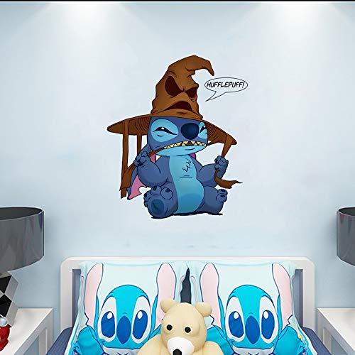 YttBuy Vinilo adhesivo para pared con diseño de punto de bebé Lilo y Stitch Ohana para niñas y niños habitación infantil