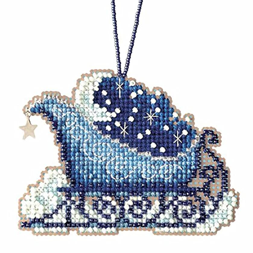 Celestial Sleigh Beaded Cross Stitch Kit Mill Hill Charmed Ornaments 2017 Sleigh Ride MH161731