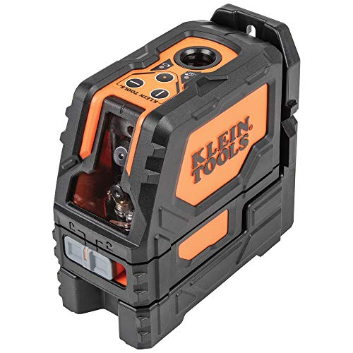 Klein Tools 93LCLG Cross-Line Laser Level, Self Leveling Green Laser with Red Plumb Spot with Magnetic Mounting
