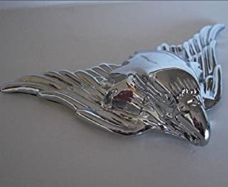 Chrome War Eagle Metal Emblem For Hotrod Car Truck Semi Hood Ornament