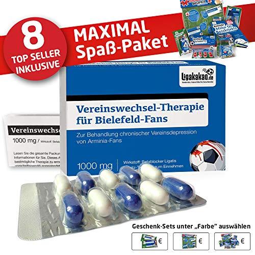Bielefeld Fahne ist jetzt das MAXIMAL SPAß Paket für Armina-Fans by Ligakakao.de | große Hissfahne mit Vereins Logo, blau-weiß