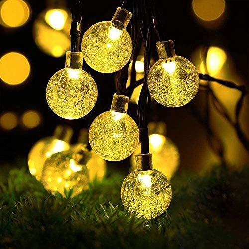 ソーラー LED ストリングライト イルミネーションライト 50電球 7M IP65防水 8モード 夜間自動点灯 キャンプ用 ガーランドライト クリスマス/ハロウィン/パーティー/バレンタインデー/新年/祝日/結婚式/学園祭屋外/室外/室内/庭対応 ソーラーパネル 飾りライト