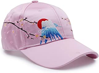 AMAZACER Baseball Cap Adjustable Embroidery Sweat-Absorbent Sunscreen Sports Cap Tennis Golf (Color : Black) (Color : Pink)