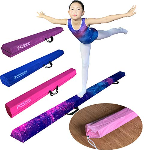 FC FUNCHEER 8FT Folding Floor Gymnastics Equipment for Kids Adults,Non Slip Rubber Base, Gymnastics Beam for Training, Practice, Physical Therapy and Professional Home Training with Carrying Bag