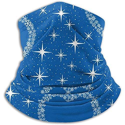 Linger In Blue Hearts Et Star Neck Gaiter Face Mask Bandana Seamless Headband Ski Riding Running