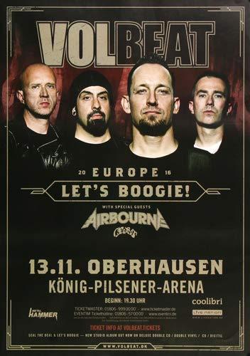 Volbeat - Let`s Boogie, Oberhausen 2016 » Konzertplakat/Premium Poster | Live Konzert Veranstaltung | DIN A1 «