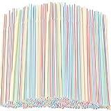 Opopark 300 Piezas Pajitas de Plástico, Pajitas Desechables a Rayas Multicolores sin BPA para el...