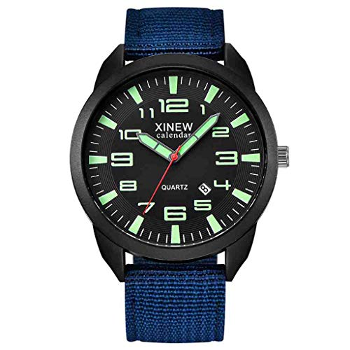 DECTN Armbanduhr Herren Datum Edelstahl Militär Sport Analog Quarz Armbanduhren Uhren para Hombre, E