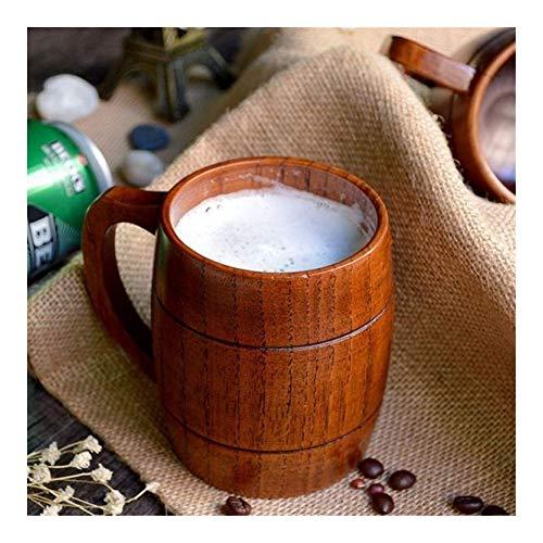 Shtsh Madera Jarra de Cerveza Cerveza Stein de Recuerdo Hecho a Mano Copa Barril Vaso 400ml Naturales de Roble de Madera Copas